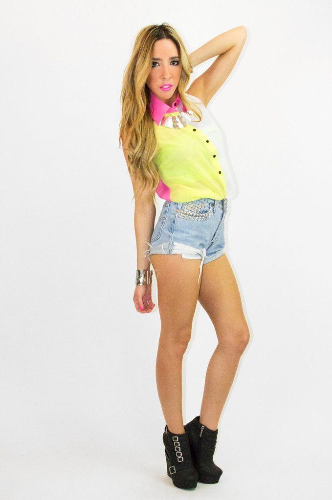 Sleeveless Chiffon Blouse Outfit 49