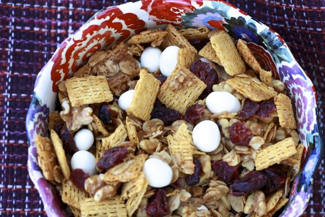 Snack Mix - Life cereal, oats, walnuts, cranberries and yogurt covered ...