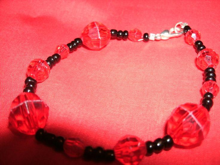 Black and red bracelet^