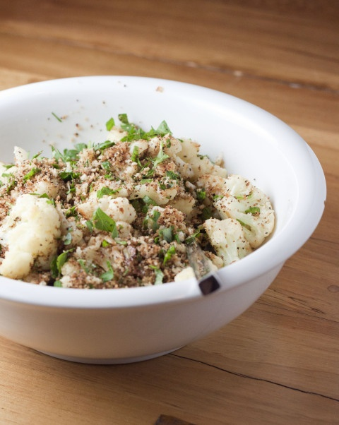 Cauliflower with Garlic Bread Crumbs | Cook Your Heart Out | Pinterest