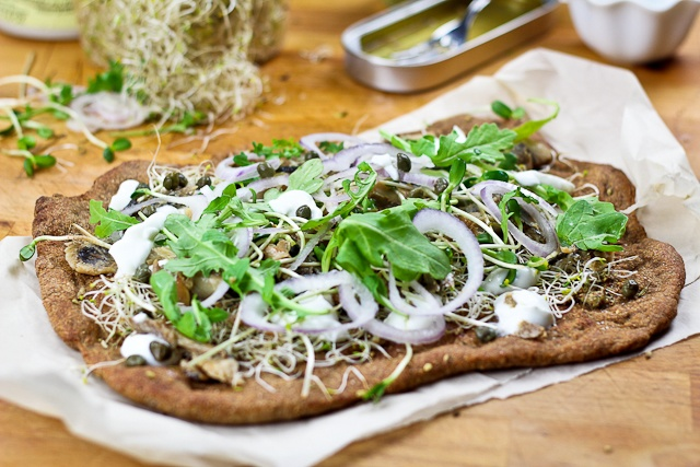 Smoked Herring and Yogurt Pizza… or it is a Flat Bread?