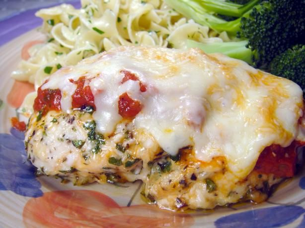 Easy Baked Chicken Parmesan (No Breading). OMIT or use low-fat parm ...