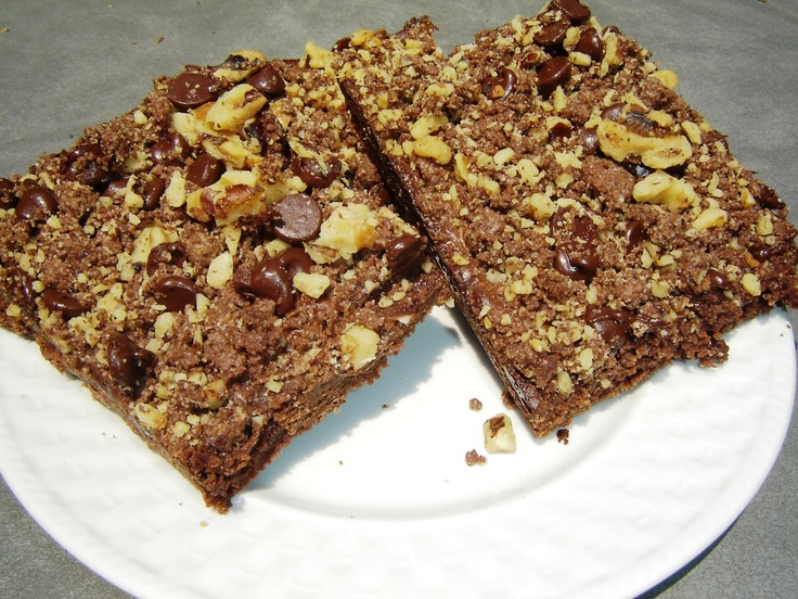 Soap Mom's Kitchen: Hershey Chocolate Walnut Streusel Bars
