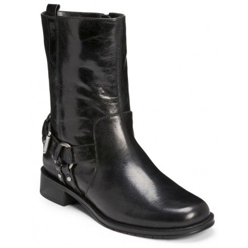 Aerosoles Outrider Black Leather - A great bike boot look with