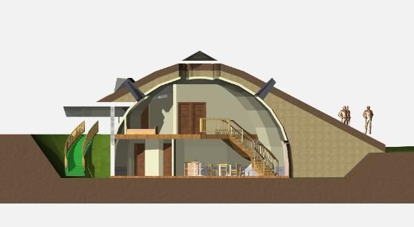 Geodesic earth sheltered home favorite places and spaces for Earth sheltered home kits
