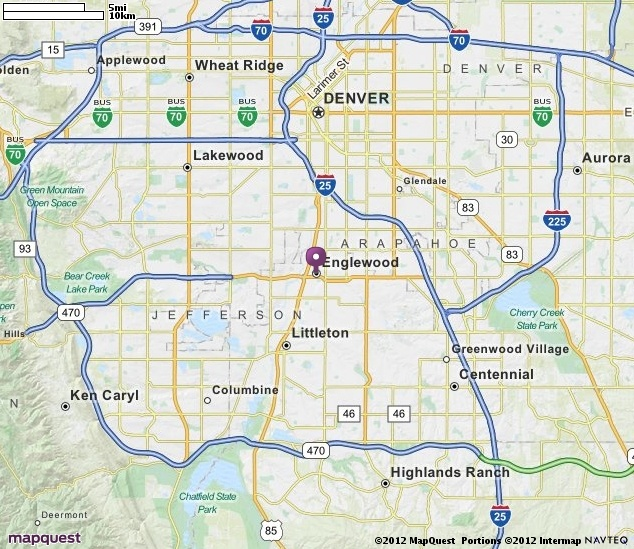 Englewood CO Map  MapQuest  Cities Where I Worked