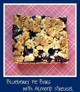 Blueberry Pie Bars with Almond Streusel | Treats I *Should* Avoid | P ...