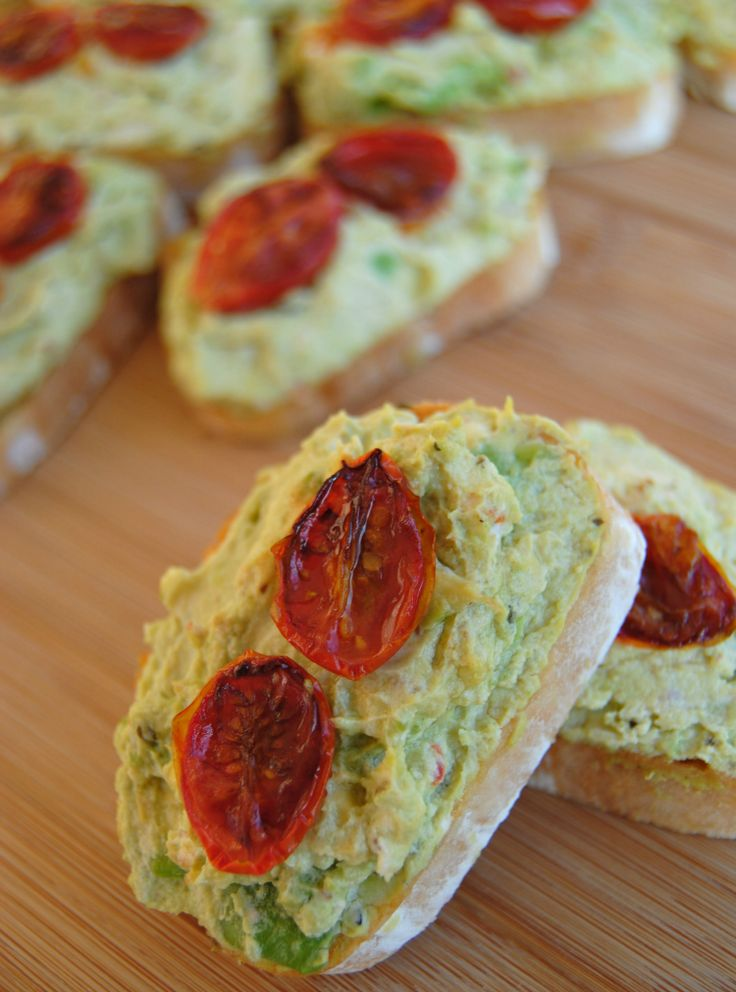 ... : Avocado, Goat Cheese + Roasted Tomato Crostini