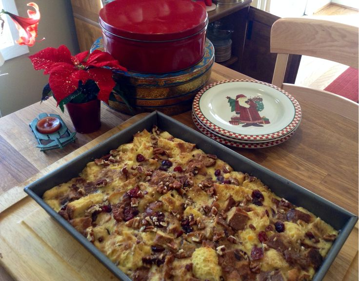 Christmas bread pudding   Stuff to Try   Pinterest