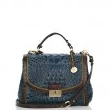 Handbags: Blue, Brahmin
