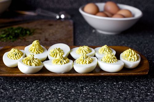 Caesar Salad Deviled Eggs | Salads | Pinterest
