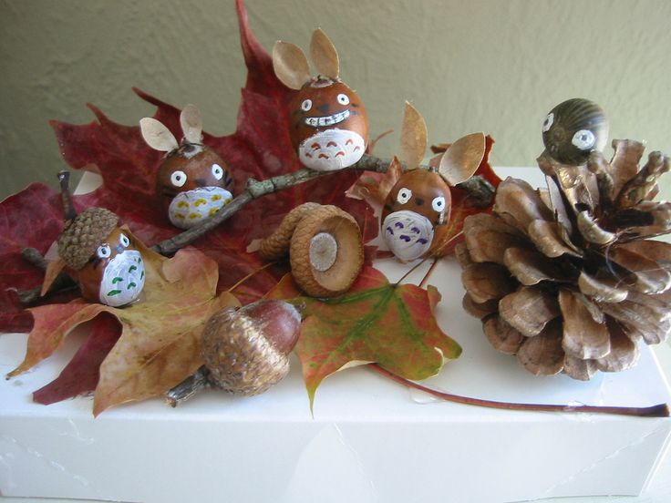 Crafts With Pinecones And Acorns