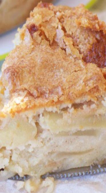 French Apple Custard Cake | Apple recipes | Pinterest