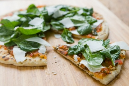 Spinach and Ricotta Salata Grilled Pizza   Whole Foods Market