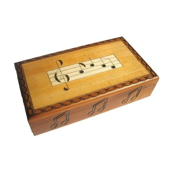 Musical Notes Wooden Box Furniture Small Boxes Pinterest