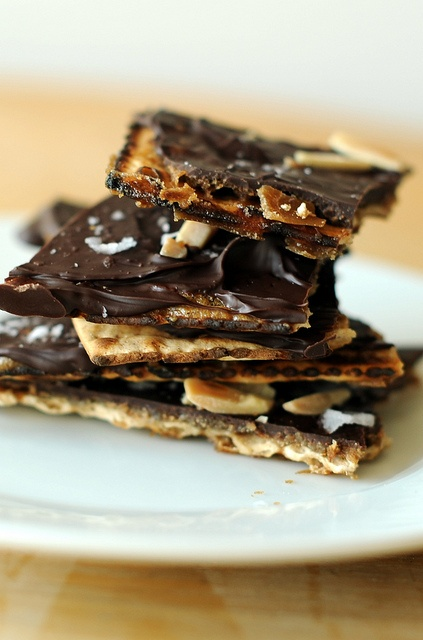 "matzo toffee with almonds (aka ""crack"")"