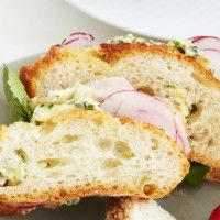 Sliced Baguette with Radishes and Anchovy Butter - Bon Appétit