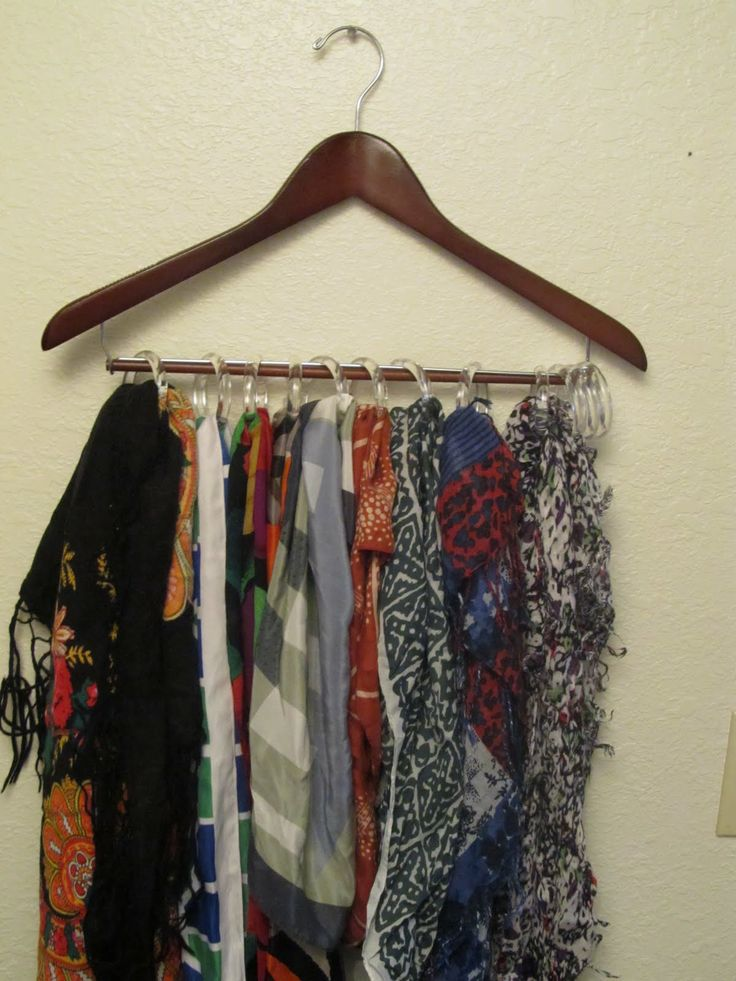 shower curtain rings to hang scarves for the home