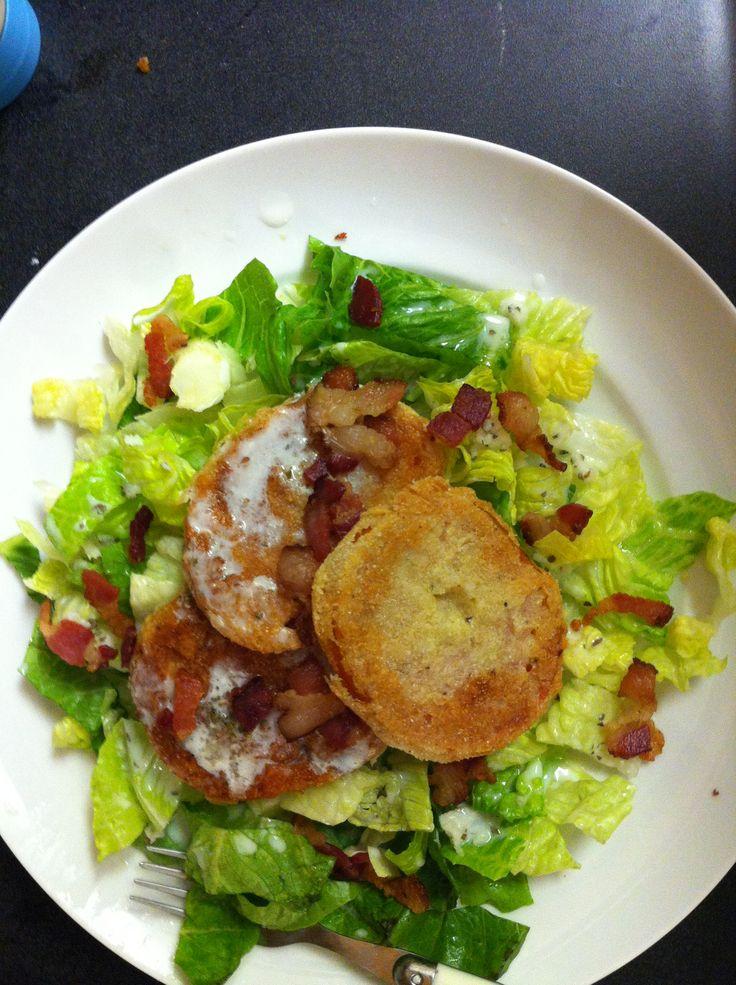 Fried Green Tomato BLT Salad
