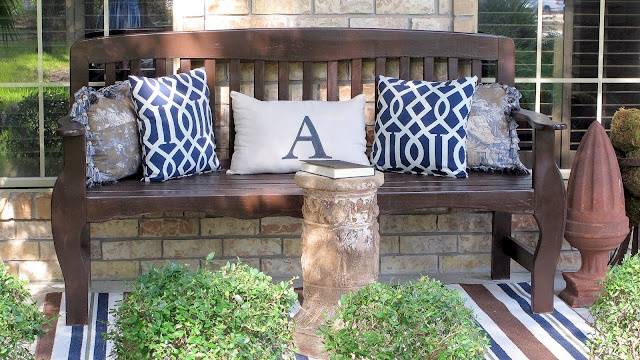 Bench On Porch Home Front Porches Pinterest