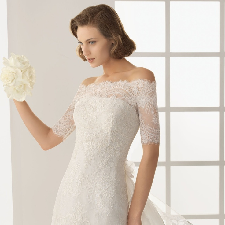 Aubree lace off the shoulder bridal top the dress for Off the shoulder wedding dress topper