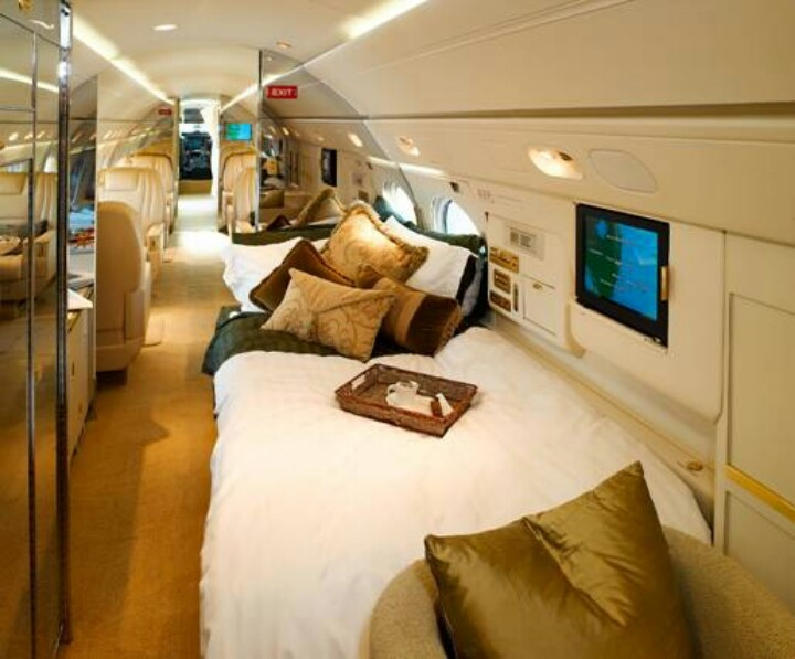 Cool inside private jet | Dream house and glamorous ...