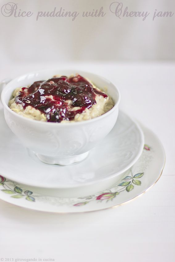 Strawberry Jam Coconut Rice Pudding Recipe — Dishmaps