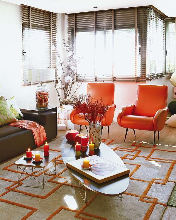 Orange And Gray Living Room Orange And Gray Pinterest