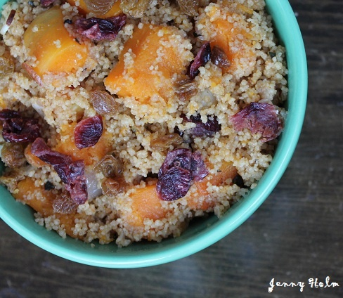 Couscous with Maple-Glazed Squash, Raisins and Almonds. Would love to ...