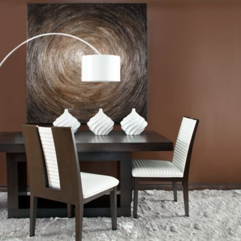 Loft dining table from z gallerie monica pinterest for Z gallerie dining room chairs