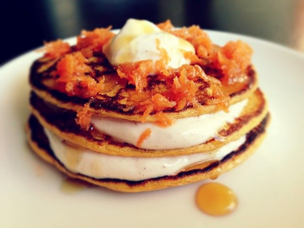 Carrot Cake Protein Pancakes | Food & Drink | Pinterest
