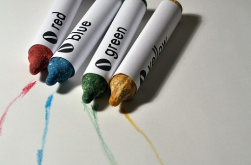 Edible crayons made of dried food