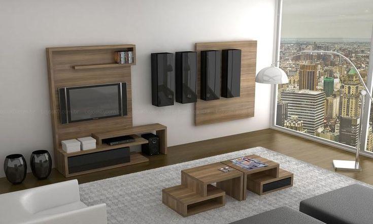 decoração de sala de estar moderna  Diseño de interiores