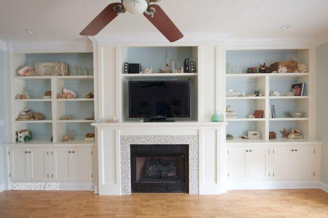 Fireplace Wall Built Ins