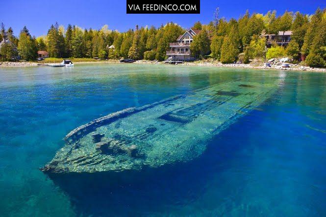 Lake Huron shipwreck. >>> check similar images on Feedinco.com