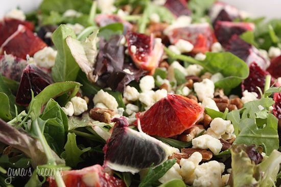 Blood Orange Salad with Gorgonzola, Pecans and Baby Greens - This ...