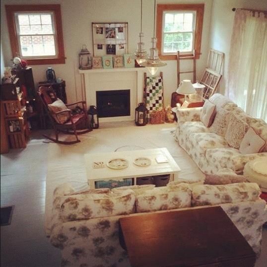 shabby chic living room new house pinterest