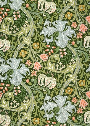 William Morris pattern--many of his designs are still being made. IMO, a little goes a long way.