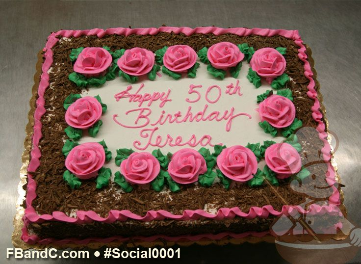 Cake With Roses Pinterest : Pink Roses Birthday Cake Birthday Cakes Pinterest
