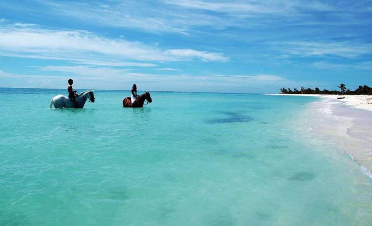 Playa del Carmen - ride a horse in crystal clear water.