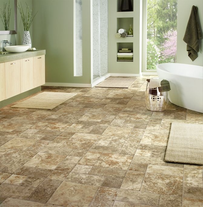Vinyl Sheet Bathroom Floor Dreaming Of Home Pinterest