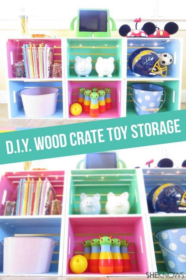 diy wood crate toy storage arlo 39 s new room pinterest
