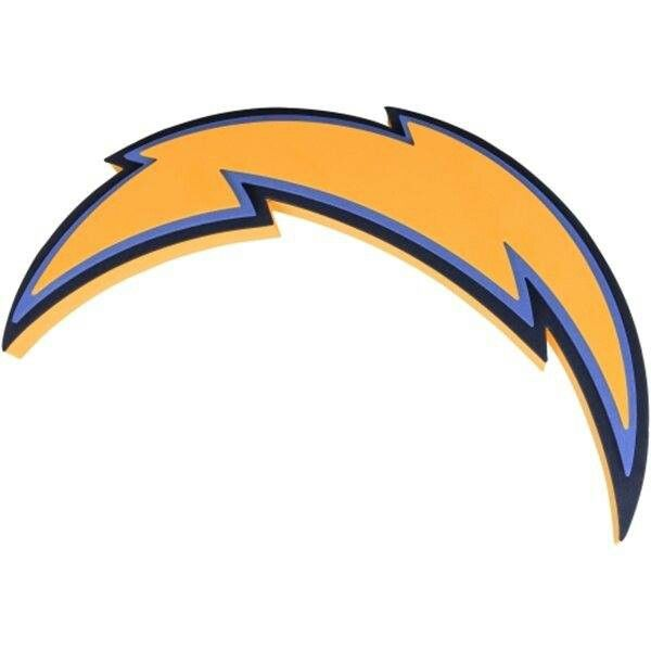San Diego Chargers Bolts: Lightning Bolt