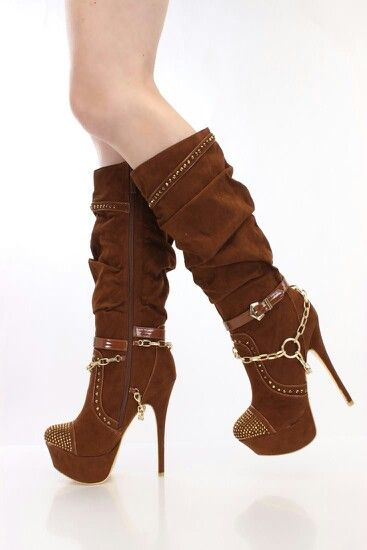 Cute high heel boots
