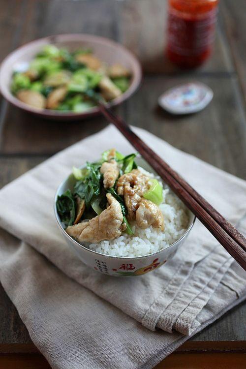 bok choy chicken. use cauli-rice, coconut aminos, & arrowroot flour ...
