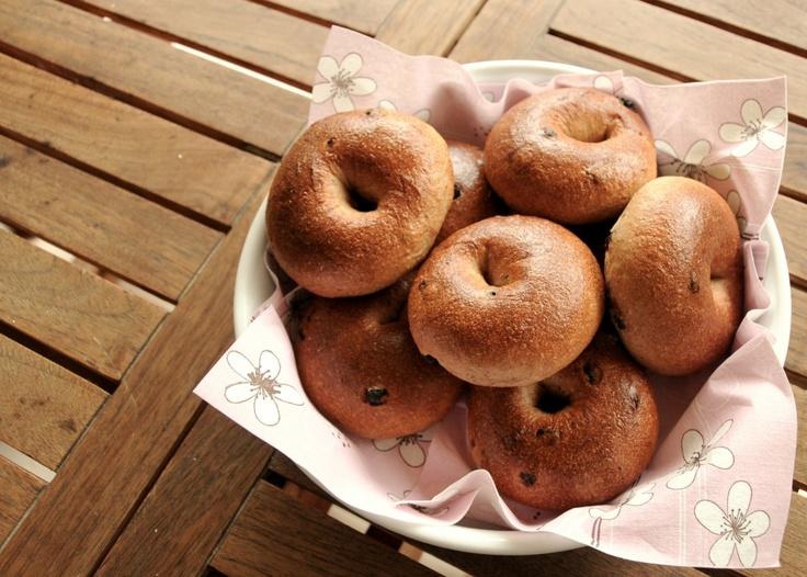 cinnamon & raisin bagels   bread, bread & more bread   Pinterest