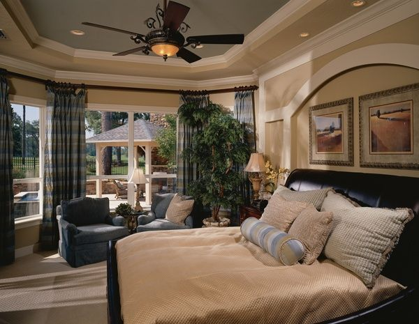 Decorated model home beautiful bedrooms bedding pinterest - Home decorator online model ...