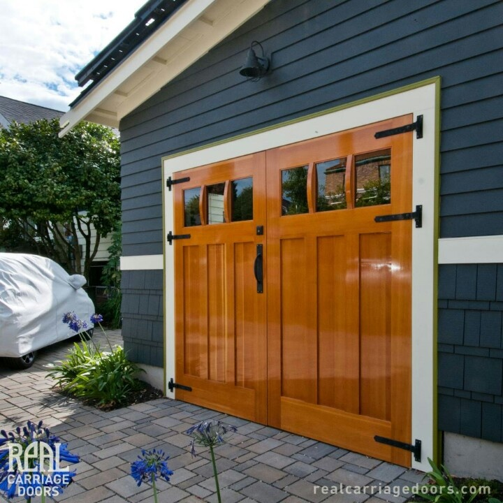 Real carriage doors house plans pinterest for Carriage door plans