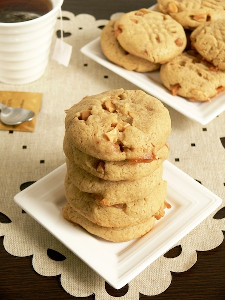 My Cashew Caramel Cookies packed with cashews and fudge chunks !