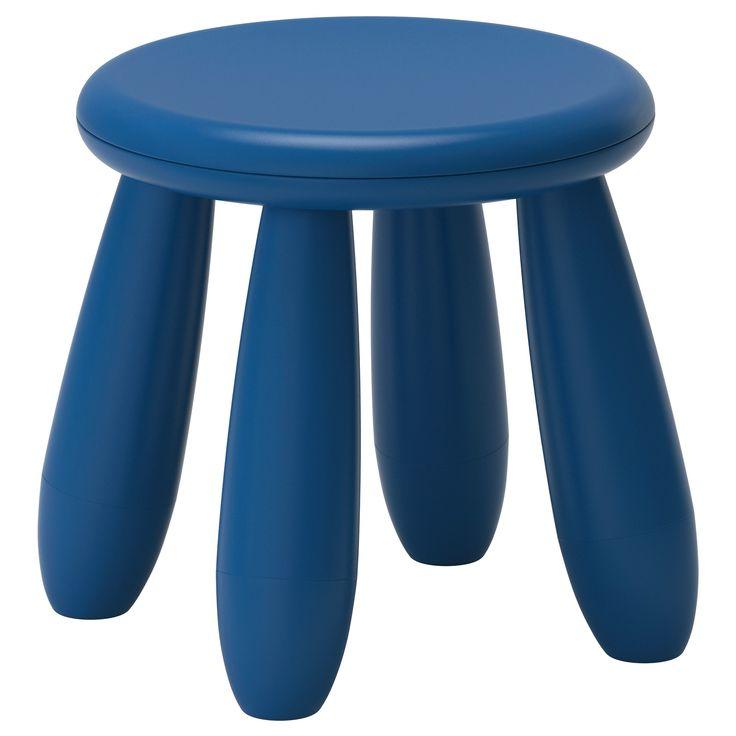 Mammut children 39 s stool dark blue indoor outdoor dark blue - Tall stool ikea ...